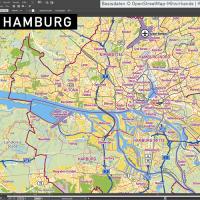 Hamburg Stadtplan Vektor Stadtbezirke Stadtteile Topographie, Karte Hamburg, Stadtkarte Hamburg