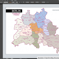 Berlin Stadtplan Vektor Stadtbezirke Stadtteile Topographie, Karte Berlin, Stadtplan Berlin, Stadtkarte Berlin, Karte Berlin Stadtteile, Karte Berlin Stadtbezirke