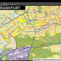 Frankfurt am Main Stadtplan Vektor Stadtbezirke Stadtteile Topographie, Karte Frankurt Stadtteile, Karte Frankfurt Stadtbezirke, Vektorkarte Frankfurt Stadtteile, Stadtplan Frankfurt Stadtteile
