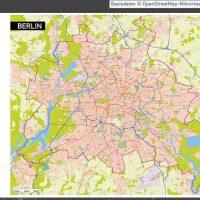 Berlin Karte Vektor Übersicht mit Gebäuden Stadtteilen Topographie, Karte Berlin Stadtteile, Karte Berlin Stadtbezirke, Vektorkarte Berlin Gebäude, Karte Berlin mit Gebäuden, Stadtplan Berlin, Stadtkarte Berlin