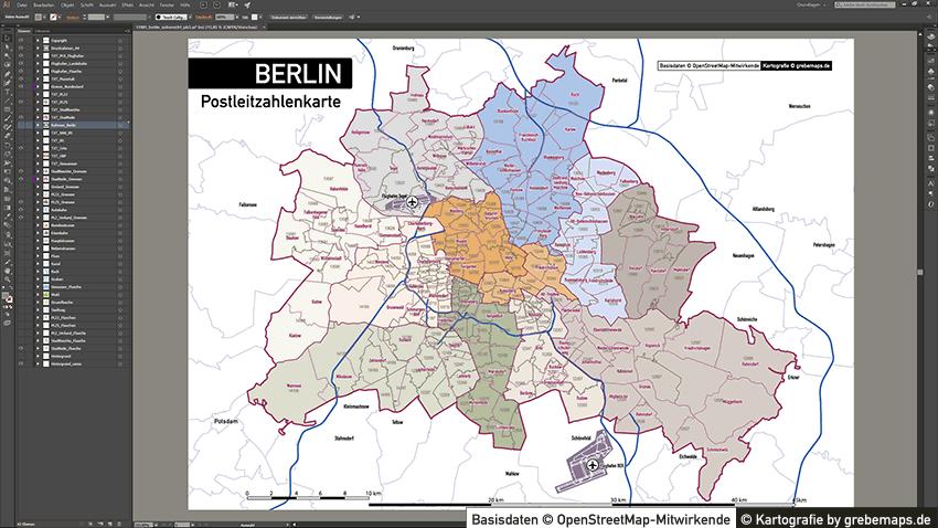 ^Berlin Postleitzahlen PLZ-5 Topographie Stadtbezirke Stadtteile Vektorkarte, Karte Berlin Postleitzahlen, Vektorkarte Berlin Postleitzahlen, PLZ-Karte Berlin, Karte Berlin PLZ Stadtteile, Vektorkarte Berlin PLZ Stadtteile