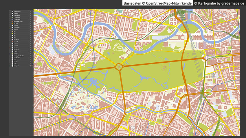 Berlin-Zentrum Stadtplan Vektor mit Gebäuden Basiskarte, Karte Berlin Zentrum mit Gebäuden, Basiskarte Berlin-Zentrum, Vektorkarte Berlin-Zentrum
