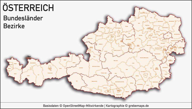 Österreich Austria Vektorkarte Bundesländer Bezirke Gemeinden, Karte Österreich Bezirke, Karte Österreich Bundesländer, Karte Österreich Gemeinden, Vektorkarte Österreich Gemeinden, Karte Austria Gemeinden
