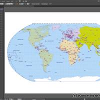 Weltkarte Vektor (Robinson), Vektorkarte Welt Robinson, Karte Vektor Robinson Welt