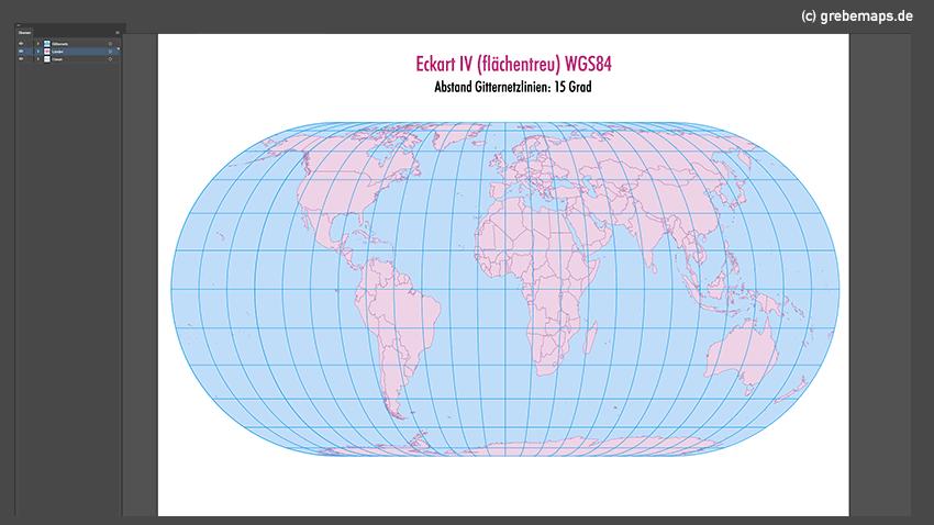 Weltkarte, Karte Welt Vektor, Vektorkarte Welt, Eckart IV