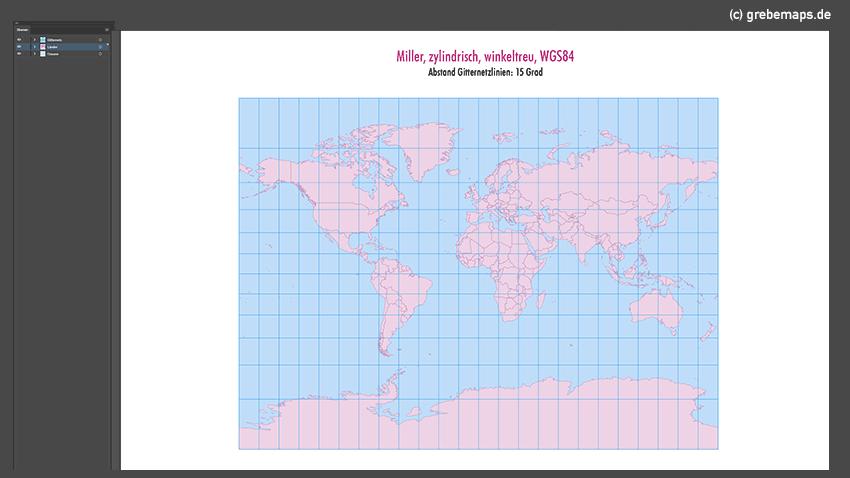 Weltkarte, Karte Welt Vektor, Vektorkarte Welt, Miller