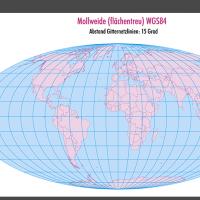 Weltkarte, Karte Welt Vektor, Vektorkarte Welt, Mollweide