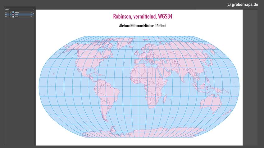Weltkarte, Karte Welt Vektor, Vektorkarte Welt, Robinson Weltkarte