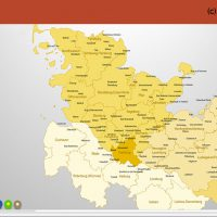 Schleswig-Holstein Hamburg PowerPoint-Karte Landkreise, Karte PowerPoint Schleswig-Holstein Landkreise, Karte Landkreise Schleswig-Holstein PowerPoint