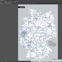 Deutschland Autobahnen Städte Gewässer Bundesländer Vektorkarte, Karte Deutschland Autobahnen Städte, Vektorkarte Deutschland, Karte Vektor Deutschland, editierbar, bearbeitbar