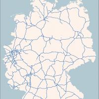 Karte Deutschland Autobahnen, Vektorkarte Deutschland Autobahnen Bundesländer