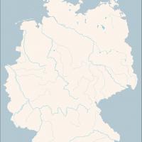 Karte Deutschland Gewässer, Vektorkarte Deutschland Gewässer
