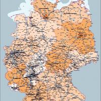 Karte Deutschland Bundesländer, Vektorkarte Deutschland Bundesländer