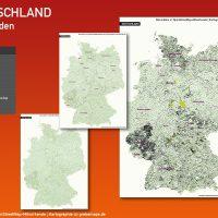 Karte Gemeinden Deutschland, Gemeindekarte Deutschland