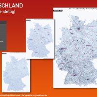 Karte Postleitzahlen PLZ-5 5-stellig Deutschland