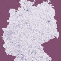 Deutschland PLUS Postleitzahlen PLZ 1-2-3 Vektorkarte (2018), Karte PLZ Deutschland, Karte Postleitzahlen Deutschland, Postleitzahlenkarte Deutschland, Deutschland Karte PLZ, PLZ Karte Deutschland