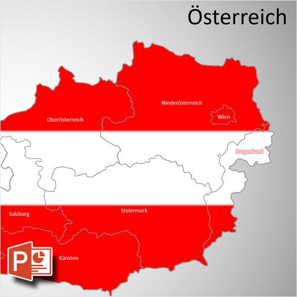 PowerPoint-Karte Österreich Austria Bundesländer, PowerPoint-Karte Österreich, Karte Austria, Bundesländer Österreich, PowerPoint-Karte Österreich Bundesländer, Austria Bundesländer, Karte PowerPoint Österreich