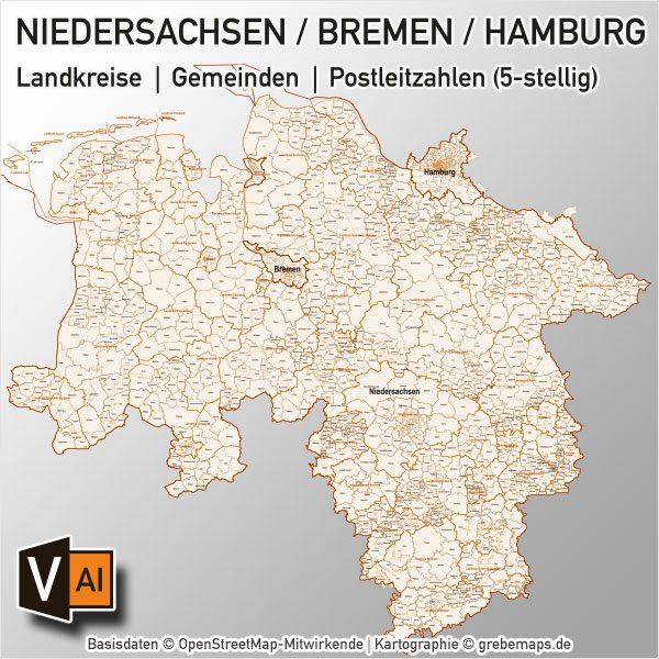 Und gemeinden in niedersachsen landkreise Deutsche Landkreise