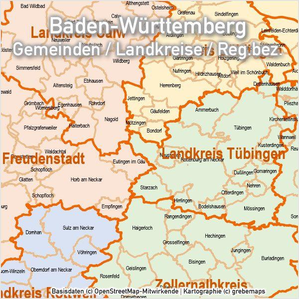 PowerPoint-Karte Baden-Württemberg Landkreise Gemeinden, Karte Baden-Württemberg Landkreise, Karte Baden-Württemberg Gemeinden, Karte für PowerPoint Baden-Württemberg, Karte BW Gemeinden, Karte BW Landkreise, Landkreise Baden-Württemberg PowerPoint, Gemeinden Baden-Württemberg PowerPoint