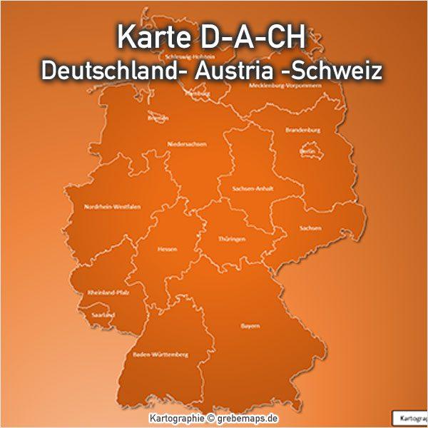 Karte PowerPoint Deutschland