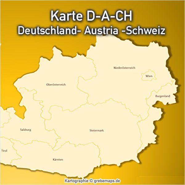 Karte PowerPoint Österreich Austria