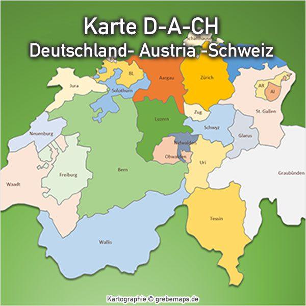 Karte Schweiz Kanton PowerPoint