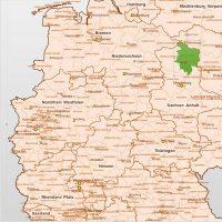 PowerPoint-Karte Deutschland Landkreise, Karte Landkreise Deutschland PowerPoint, PowerPoint-Landkarte Deutschland Landkreise