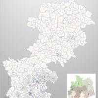 PowerPoint-Karte Deutschland Postleitzahlen 5-stellig PLZ-Zone-4, Karte PLZ Deutschland PowerPoint, Karte PowerPoint Postleitzahlen Deutschland
