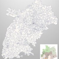 PowerPoint-Karte Deutschland Postleitzahlen 5-stellig. PLZ-Zone-7, Karte PLZ Powerpoint Deutschland, Deutschland Karte PowerPoint PLZ