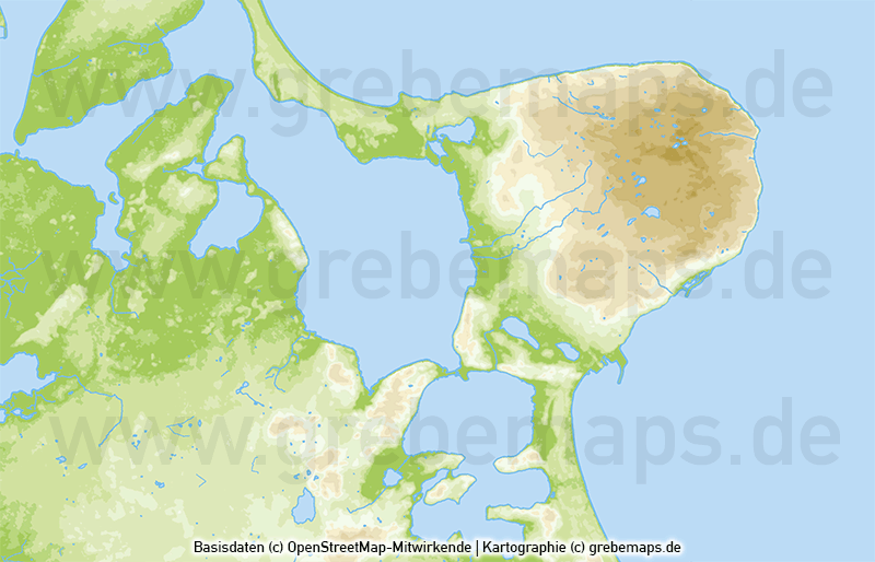 Rügen Vektorkarte Höhenschichten mit Gemeindegrenzen, Karte Insel Rügen, Basiskarte Rügen, Übersichtskarte Rügen mit Gemeindegrenzen, Vektorkarte Rügen download, Landkarte Rügen download, Karte Rügen für Print, AI-Datei, Inselkarte Rügen