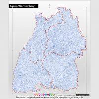 PowerPoint-Karte Baden-Württemberg Landkreise Postleitzahlen PLZ-5 (5-stellig), PowerPoint-Karte Baden-Württemberg Postleitzahlen, PowerPoint-Karte Baden-Württemberg PLZ-5, PowerPoint-Karte Baden-Württemberg PLZ 5-stellig, PowerPoint-Karte Baden-Württemberg Landkreise, PowerPoint-Karte Baden-Württemberg PLZ