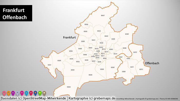 Powerpoint Karte Rhein Main Gebiet Postleitzahlen Plz 5 Plz 5