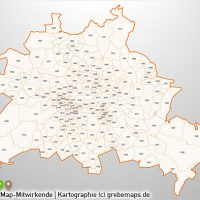 PowerPoint-Karte Postleitzahlen PLZ-5 Berlin