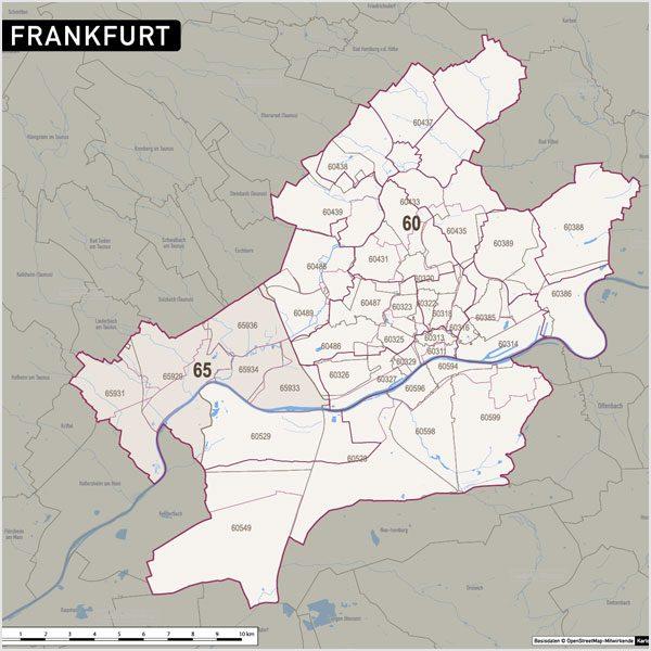 Frankfurt Postleitzahlen Plz 5 Topographie Stadtbezirke Stadtteile