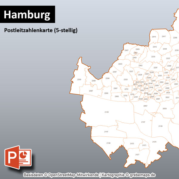 PowerPoint-Karte Hamburg Postleitzahlen PLZ-5 mit Bitmap-Karten, Karte PowerPoint Hamburg PLZ, Karte PowerPoint Hamburg Postleitzahlen, Karte PowerPoint Hamburg PLZ-5, Karte PowerPoint Hamburg PLZ 5-stellig