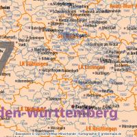 Deutschland Postleitzahlenkarte PLZ-1-5 mit Landkreisen Bundesländern Ortsnamen Vektorkarte (2020), Karte PLZ 5-stellig Deutschland, Vektorkarte PLZ Deutschland, Karte Vektor Deutschland PLZ, AI, Datei, download, editierbar, bearbeitbar