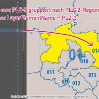 Deutschland Postleitzahlenkarte PLZ-1-2-3 mit Landkreisen Bundesländern Autobahnen Orten Vektorkarte, PLZ-3-Karte Deutschland, Karte PLZ-3 3-stellig Deutschland, AI, download, editierbar, Vektorgrafik