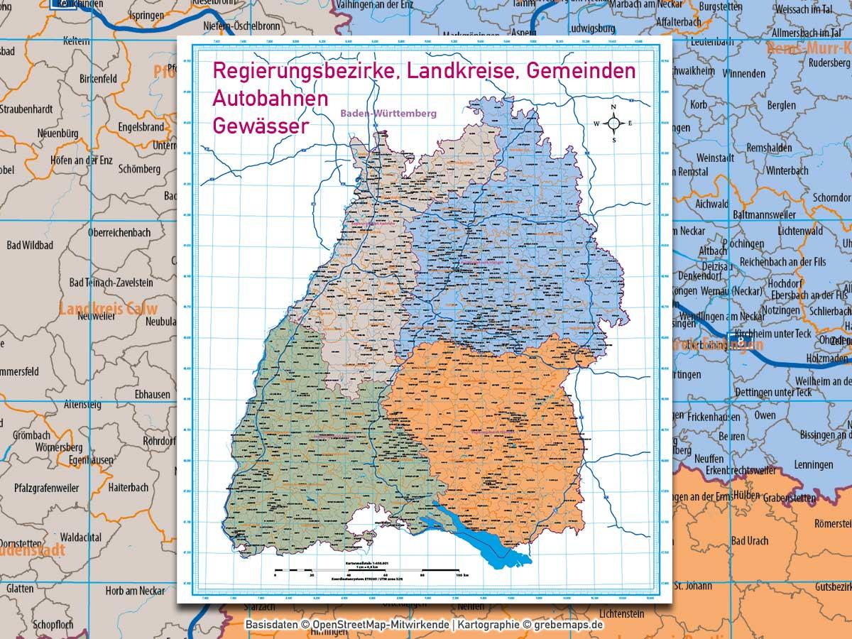 Karten Baden Württemberg